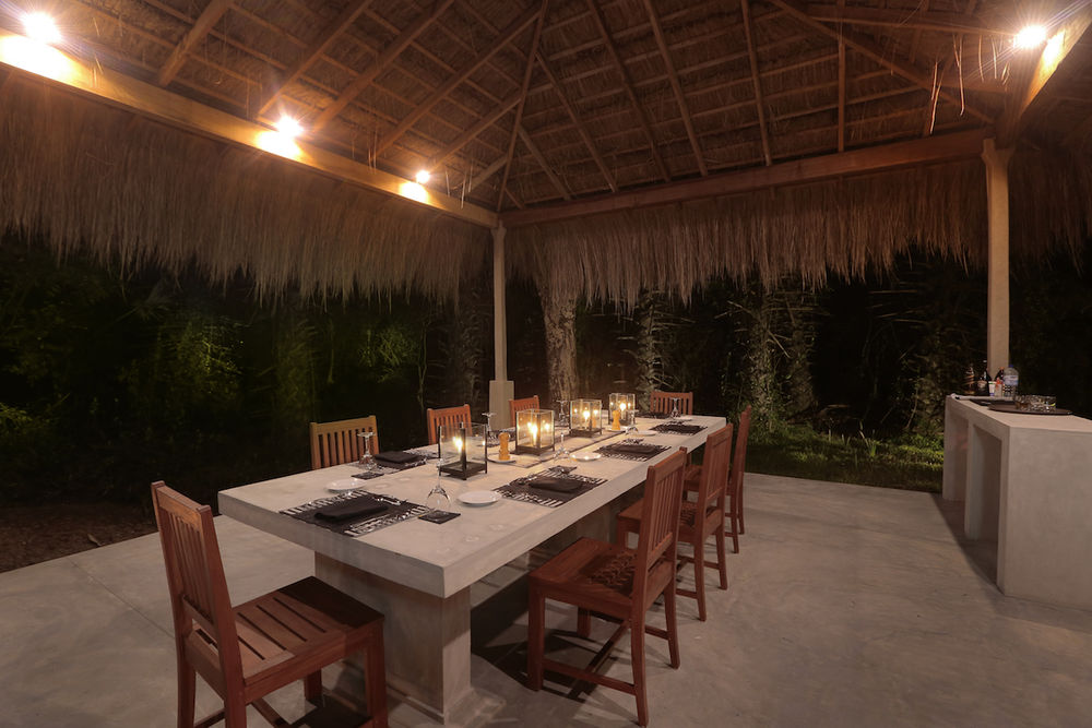 Dinnersetting, Wilpattu Safari Camp, Sri Lanka Reise