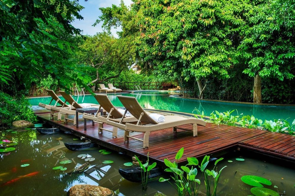Poolbereich, Jungle Beach by Uga Escapes, Sri Lanka Reise